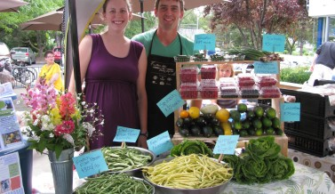 Mini Farmer's Market at Monty's Blue Plate Diner